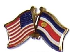 USA / COSTA RICA - 12 WORLD FLAG FRIENDSHIP PINS ec060