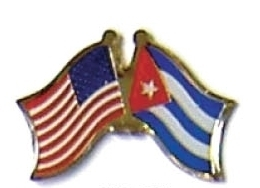 USA / CUBA - 12 WORLD FLAG FRIENDSHIP PINS ec062