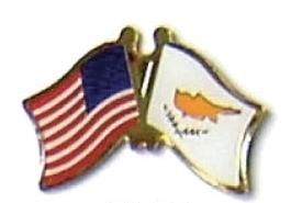 USA / CYPRUS - 12 WORLD FLAG FRIENDSHIP PINS ec064