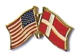 Usa / Denmark - 12 World Flag Friendship Pins ec067 - $18.00