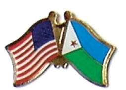 USA / DJIBOUTI - 12 WORLD FLAG FRIENDSHIP PINS ec068