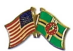 USA / DOMINICA - 12 WORLD FLAG FRIENDSHIP PINS ec069 image 1