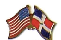 USA / DOMINICAN REPUBLIC 12 FRIENDSHIP FLAG PINS ec070