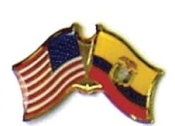 USA / ECUADOR - 12 WORLD FLAG FRIENDSHIP PINS ec073