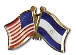 USA / EL SALVADOR - 12 WORLD FLAG FRIENDSHIP PINS ec075