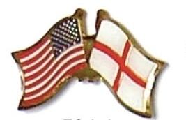 USA / ENGLAND - 12 WORLD FLAG FRIENDSHIP PINS ec076