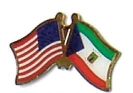 USA / EQUATORIAL GUINEA - 12 FLAG FRIENDSHIP PINS ec077