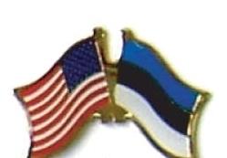USA / ESTONIA - 12 WORLD FLAG FRIENDSHIP PINS ec079