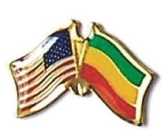 USA / ETHIOPIA - 12 WORLD FLAG FRIENDSHIP PINS ec080