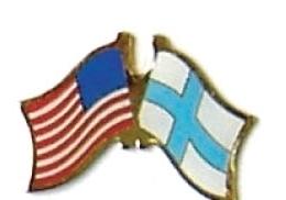 USA / FINLAND - 12 WORLD FLAG FRIENDSHIP PINS ec085
