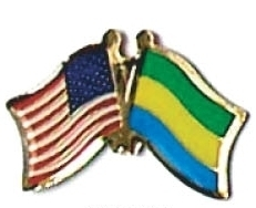 USA / GABON - 12 WORLD FLAG FRIENDSHIP PINS ec087