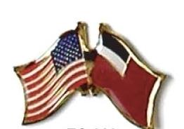 USA / GEORGIA REPUBLIC - 12 FLAG FRIENDSHIP PINS ec089