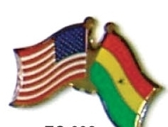 USA / GHANA - 12 WORLD FLAG FRIENDSHIP PINS ec092