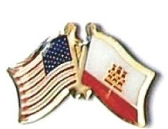USA / GIBRALTAR - 12 WORLD FLAG FRIENDSHIP PINS ec093