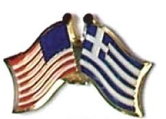 USA / GREECE - 12 WORLD FLAG FRIENDSHIP PINS ec094