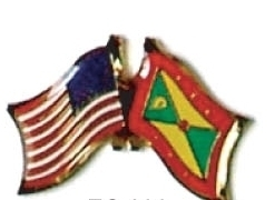 USA / GRENADA - 12 WORLD FLAG FRIENDSHIP PINS ec096