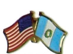 USA / GUATEMALA - 12 WORLD FLAG FRIENDSHIP PINS ec098