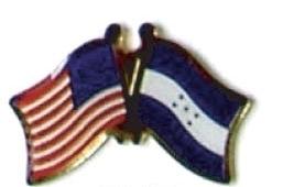 USA / HONDURAS - 12 WORLD FLAG FRIENDSHIP PINS ec104