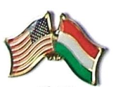 USA / HUNGARY - 12 WORLD FLAG FRIENDSHIP PINS ec106