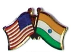 USA / INDIA - 12 WORLD FLAG FRIENDSHIP PINS ec108