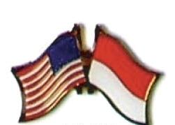 USA / INDONESIA - 12 WORLD FLAG FRIENDSHIP PINS ec109