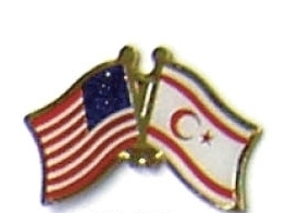 USA / NORTHERN CYPRUS - 12 FRIENDSHIP FLAG PINS ec065