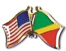 USA CONGO REPUBLIC 12 WORLD FLAG FRIENDSHIP PINS ec058