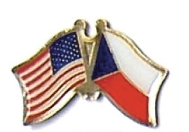 USA CZECH REPUBLIC 12 WORLD FLAG FRIENDSHIP PINS ec066