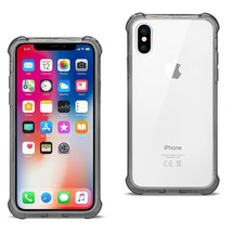 Reiko iPhone X Clear Bumper Case With Air Cushion Protection In Clear Black - $7.93
