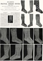 c1900 Victorian Gibson Girl Era Stocking Book Knit Socks Knitting Patterns DIY 4 - $9.99