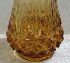 Vintage Fenton Tall Amber Stretch Glass Floor Vase image 3