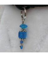 Real Blue Tiered - dog collar charm pet jewelry, handmade unisex doggie ... - $8.00