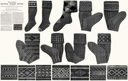 c1900 Victorian Gibson Girl Era Stocking Book Knit Socks Knitting Patterns DIY 6
