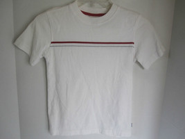 Boys Covington White Striped Short Sleeve Shirt Size L - $6.79