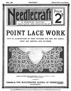 c1910 Point Lace Book Lace Patterns Victorian Laces DIY Lacemaker Instructions