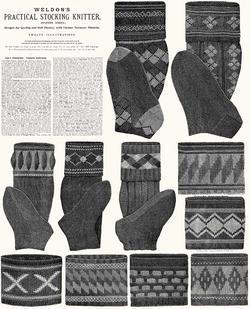 c1910 Victorian Gibson Girl Era Stocking Book Knit Socks Knitting Patterns DIY 7