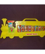 Vintage Melody Train Xylophone World Toy Animals Music Yellow - $10.89