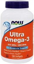 NOW Foods - Ultra Omega-3 500 EPA/250 DHA - 180 Softgels - $115.17