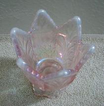 Fenton Pink Iridescent Tulip Votive Candle Holder image 4