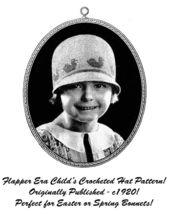 c1920 Roaring 20s Flapper Crochet Crocheted Cloche Hat Pattern Prohibiti... - $4.99