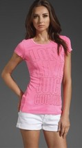 Juicy Couture Long Live Juicy Tee in Ultra Light Fuchsia - $91.29
