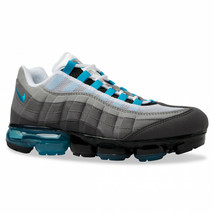 Nike Air Vapormax 95 Grey Turquoise Black White AJ7292-002 Mens Size 9 - $139.95