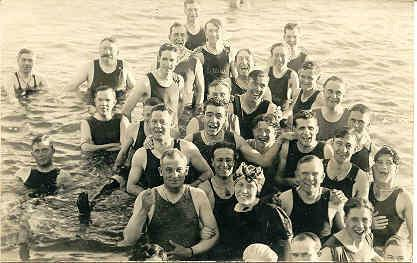 Saltair Beach Bathers Salt Lake Utah 1914 vintage Post Card