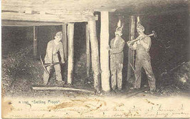 Coal Miners of Pennsylvania Vintage 1906 Post Card - $15.00