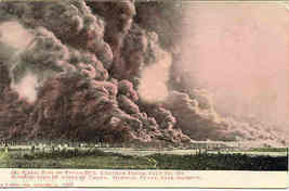Texas Company Oil Field Fire Humble Texas July 23 1905 Vintage Post Card  - $15.00