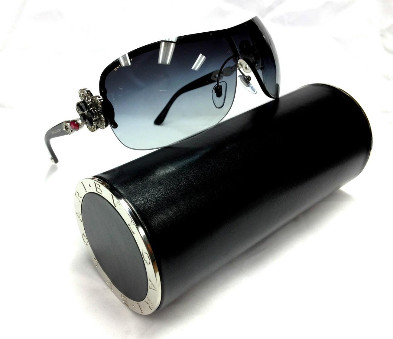 NEW Authentic BVLGARI Limited Mediterranean Black 6059B 6059 Sunglasses 102 8G - $450.00