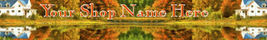 Web Banner Autumn Reflections Custom Designed    58a - $7.00
