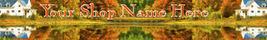 Web Banner Autumn Reflections Custom Designed    58a - $7.00