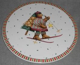 Sakura Sledding Characters Pattern Large Trivet/Cake Stand Debbie Mumm - $17.81