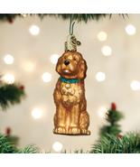 OLD WORLD CHRISTMAS IRISH DOODLE DOG PET GLASS CHRISTMAS ORNAMENT 12528 - $9.88